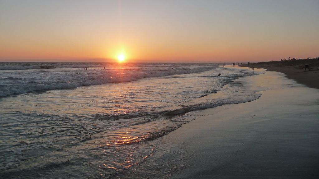 California sunset over ocean