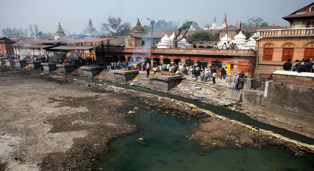Polluted Ganges River in India
