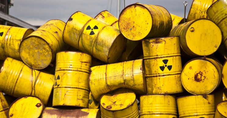 Atomic waste considerably affects marine life.